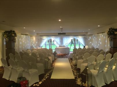 Full Room Draping Service From Elegant Draping Covering